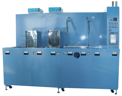 手动三槽碳氢真空清洗机